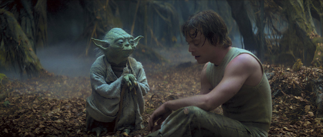 Yoda with Luke Skywalker