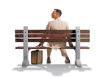 Forrest Gump on the bench