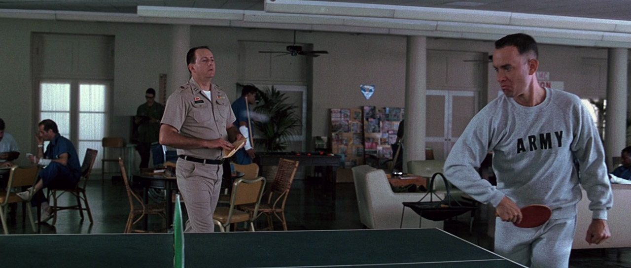 Forrest Gump playing ping-pong