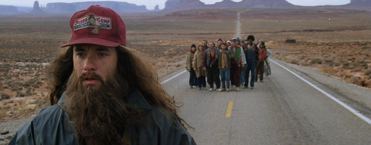 Forrest Gump running across the country